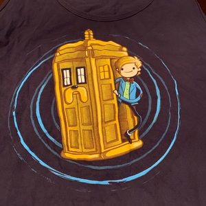 Dr. Who/adventure Time tank top American apparel